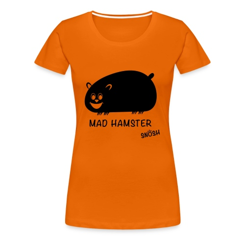 Mad Hamster black - Women's Premium T-Shirt