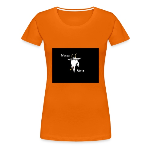 witte geit - Vrouwen Premium T-shirt