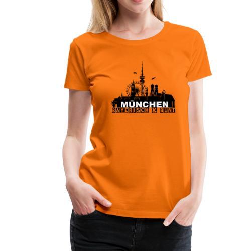 MUENCHEN BAYERISCH BUNT (LOGO SW) - Frauen Premium T-Shirt