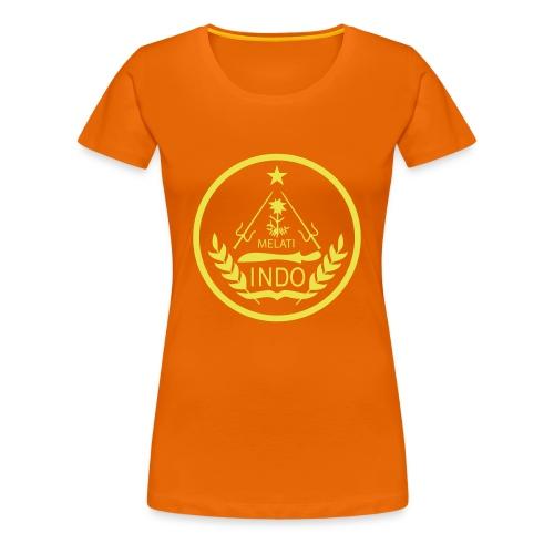 Indo_Melati_GEEL - Vrouwen Premium T-shirt