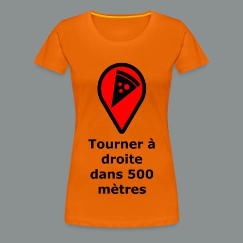 T-shirt Geek pizza - T-shirt Premium Femme
