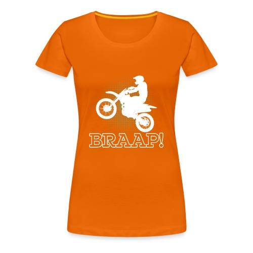 Dirtbike Braap Motocross - Women's Premium T-Shirt