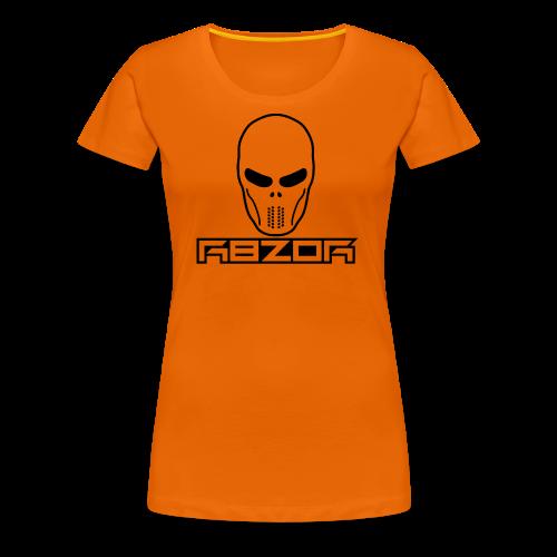 R8ZOR LOGO B/W - Women's Premium T-Shirt
