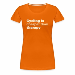 Cycling is therapy - Frauen Premium T-Shirt