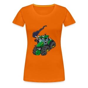 GREEN TRACTOR - Vrouwen Premium T-shirt