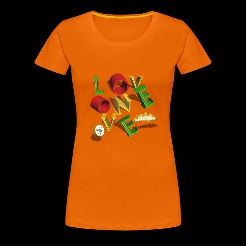 one love Kansidah 3D design - Frauen Premium T-Shirt