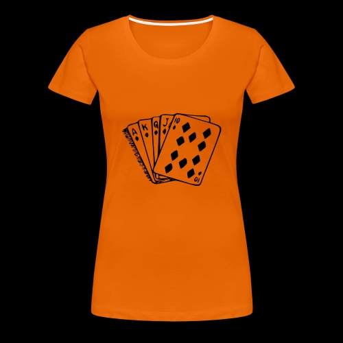 Royal Flush - Frauen Premium T-Shirt