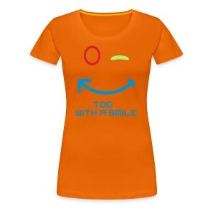 TDD met een glimlach - Vrouwen Premium T-shirt