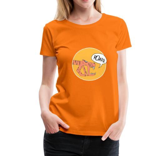 Madame Krax - Monstaa Tiger orange - Frauen Premium T-Shirt