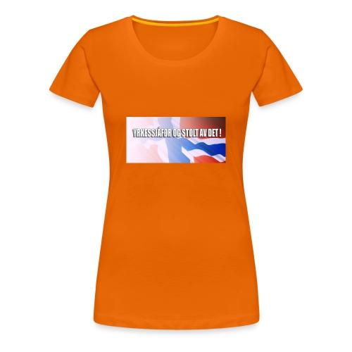 Stoltnorsk - Premium T-skjorte for kvinner