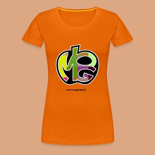 logo scritta nera - Maglietta Premium da donna