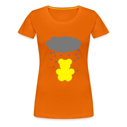 Carl im Regen | Teddy Geschenk Geschenkidee - Frauen Premium T-Shirt