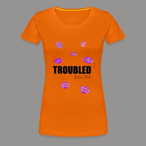TROUBLED KISSES - White T-shirt - Women's Premium T-Shirt