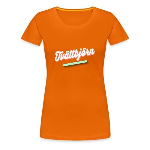 Schriftzug Tvättbjörn präsentiert... - Frauen Premium T-Shirt