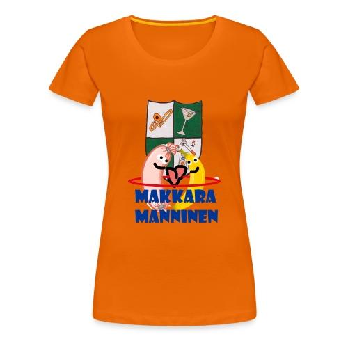 Makkara Manninen -vauvan body - Naisten premium t-paita