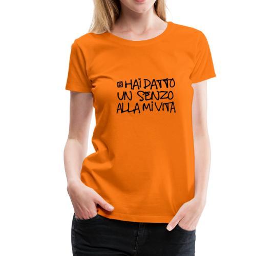 FailShirt / datto un senzo / BLACK - Maglietta Premium da donna