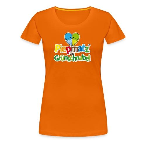 Piepmatz und Grünschnabel - Frauen Premium T-Shirt