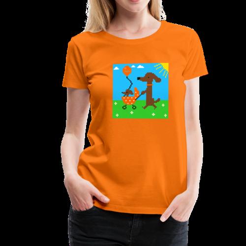 Wackeldackel aus dem Pixelland - Frauen Premium T-Shirt