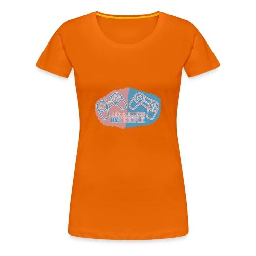 Musemåtte TwoControllersOneCouple - Dame premium T-shirt