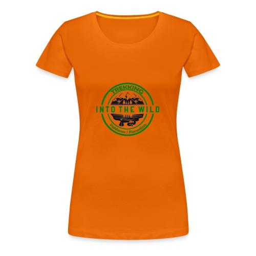 Into The Wild Trekking T-Shirt Donna - Maglietta Premium da donna
