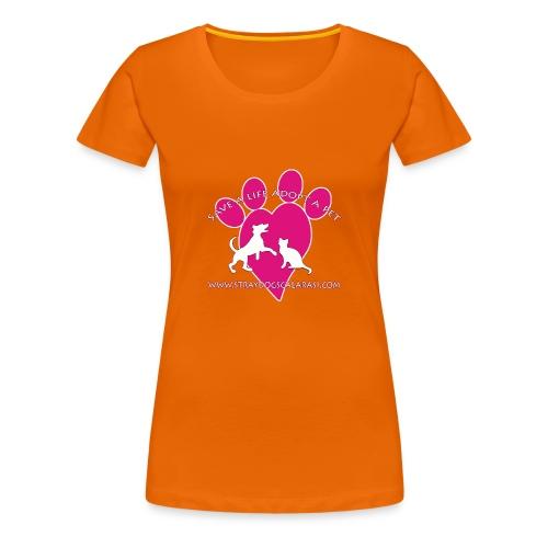 LOGO www.Straydogscalarasi.com pink - Vrouwen Premium T-shirt