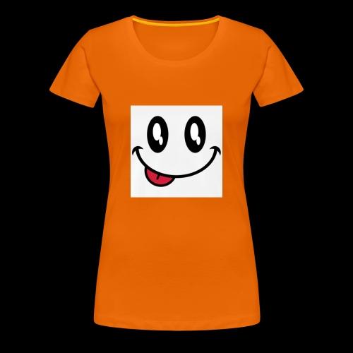 augen-smiley-zunge-t-shirts-maenner-premium-t-shir - Frauen Premium T-Shirt