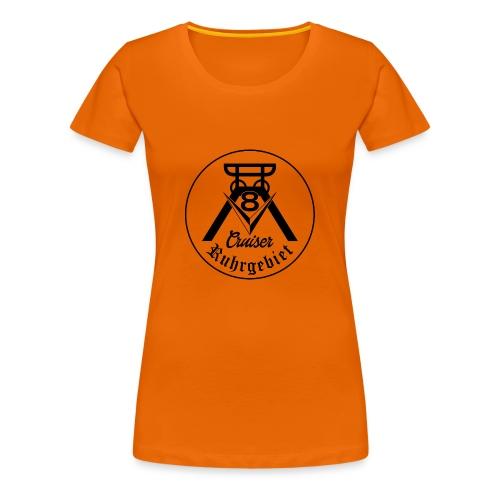 V8-Cruiser Logo schwarz - Frauen Premium T-Shirt