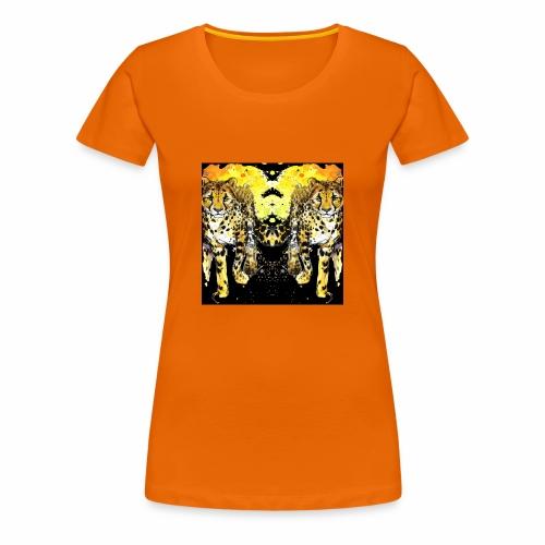 Karo Style Tiger - Frauen Premium T-Shirt