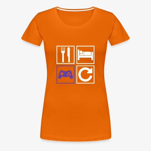 Eat, Sleep, Game, Repeat - Women's Premium T-Shirt