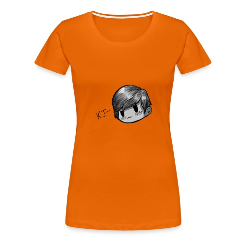 KJ (Black and White Version) - Women's Premium T-Shirt