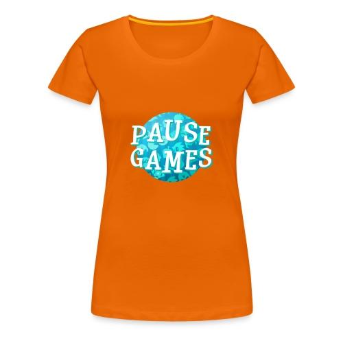 Pause Games New Design Blue - Women's Premium T-Shirt