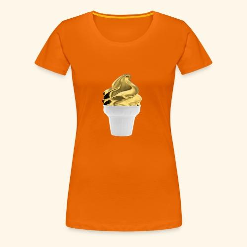 Diseño dorado oro - Camiseta premium mujer