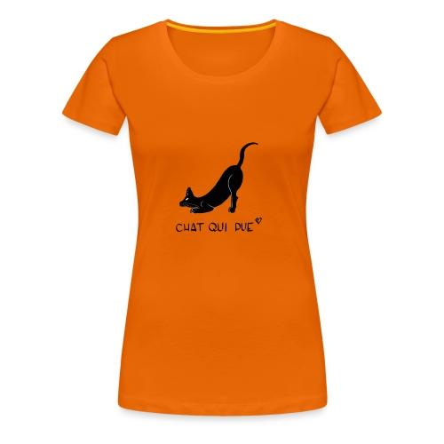 Chat qui pue - T-shirt Premium Femme