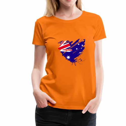Australien Sydney Kontinent Grunge Herz Fahne - Frauen Premium T-Shirt