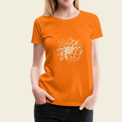 Dahlie weiss - Frauen Premium T-Shirt