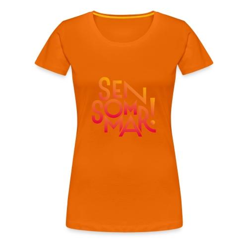 Sensommar T-shirt - Premium-T-shirt dam