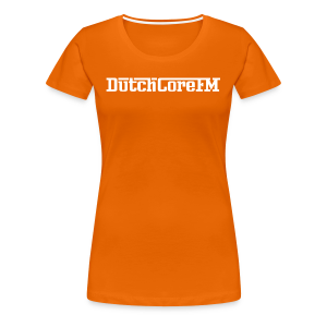 DutchCoreFM Logo White - Women's Premium T-Shirt