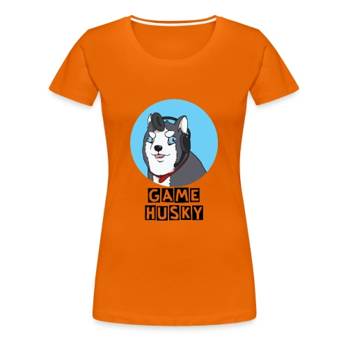 Maglietta Bianca Game Husky - Maglietta Premium da donna