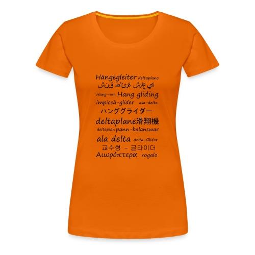 deltaplane en plusieurs langues - T-shirt Premium Femme
