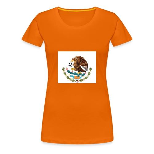 Aguila mexicana con balón de fútbol - Camiseta premium mujer