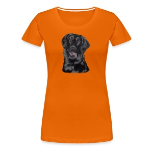 flatcoated retriever p - Dame premium T-shirt