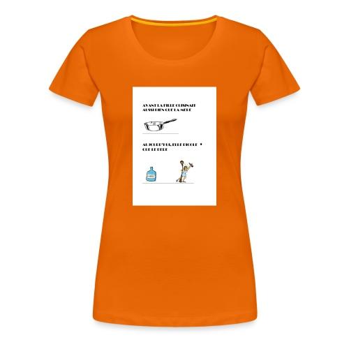 AVANT LA FILLE CUISINAIT AUSSI BIEN QUE LA MERE - T-shirt Premium Femme