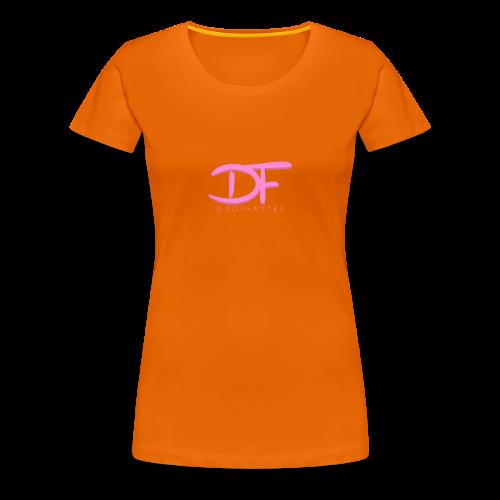 Dropfayter Logo - DF Roze - Vrouwen Premium T-shirt
