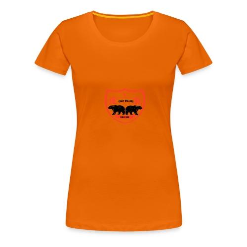 Crazy bastard - Dame premium T-shirt