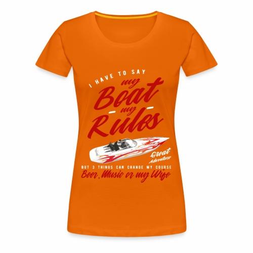 Speedboot - Frauen Premium T-Shirt