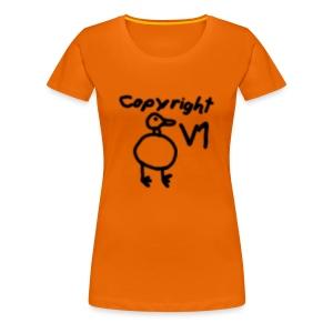 Copyright duck - Women's Premium T-Shirt