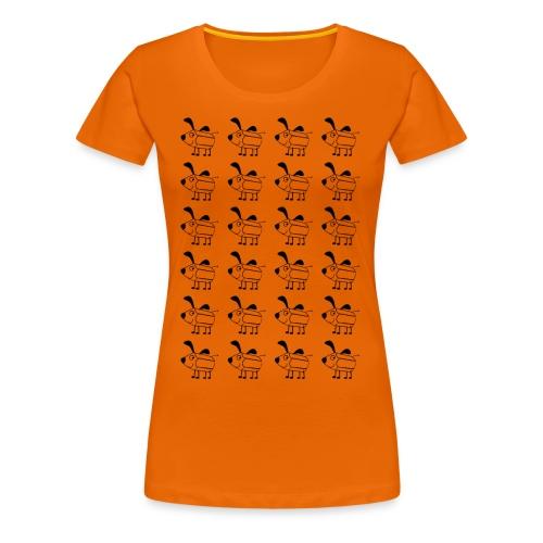 Hundstift Hugo kommt selten allein, schwarz - Frauen Premium T-Shirt