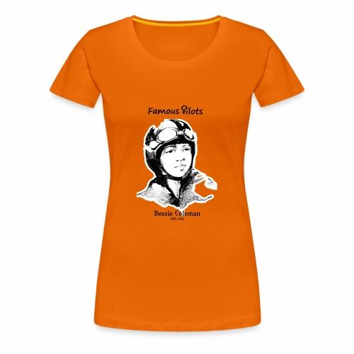 Bessie Coleman Portrait sw - Frauen Premium T-Shirt