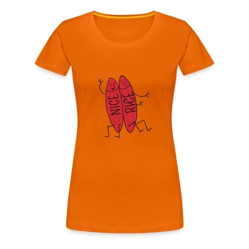 Neisserien > Nice-rice-Brueder - Frauen Premium T-Shirt