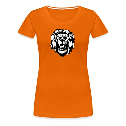 00 lion head black vector - Women's Premium T-Shirt